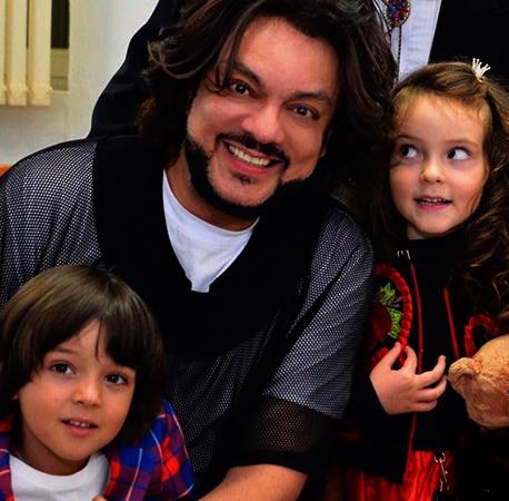 С сыном Мартином и дочерью Аллой-Викторией