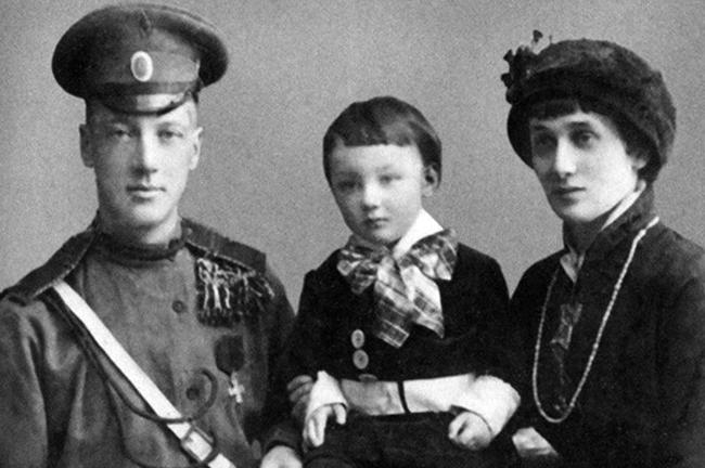 Гумилев, Ахматова и сын