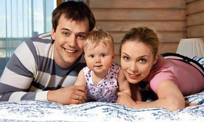 С Иваном и дочерью