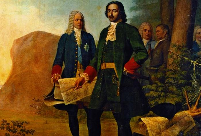 Петр 1 и Александр Меншиков