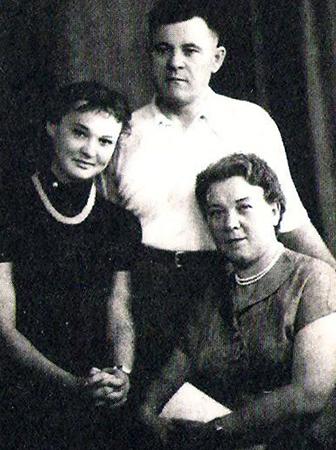 Людмила с родителями