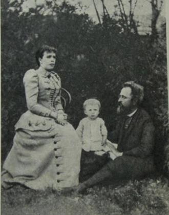Сергей Прокофьев (1 год) с родителями