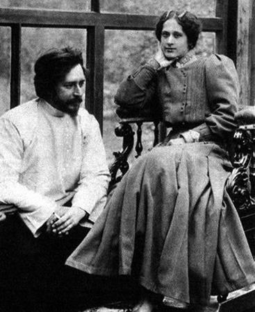 С женой Александрой