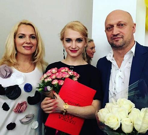 С первым мужем Гошей Куценко и дочерью Полиной