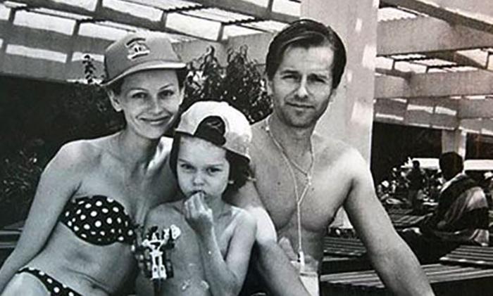 С мужем Игорем и сыном