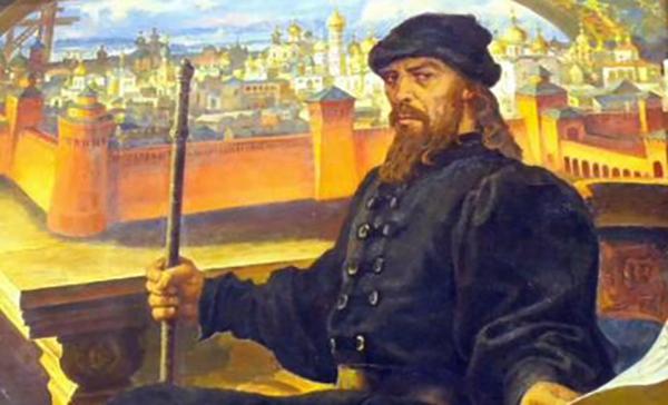 Иван III на троне
