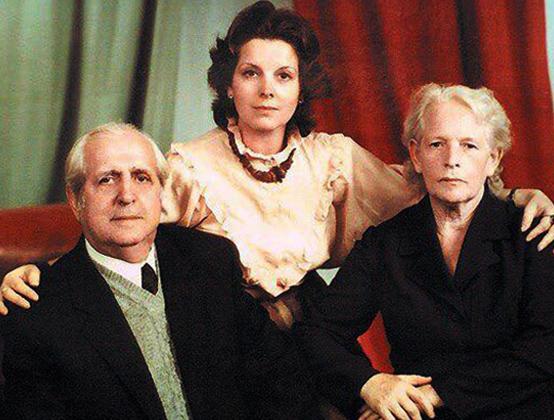 Клара с родителями