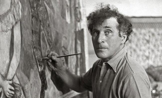 Марк Шагал рисует