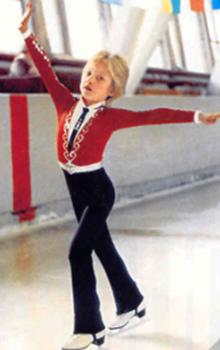 Молодой Евгений на тренировке