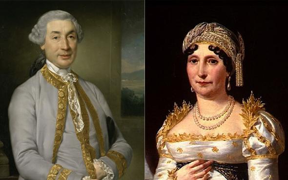 Карло Мария Буонапарте и Мария Летиция Рамолино — родители Наполеона