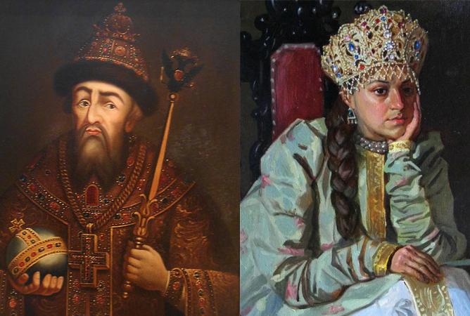 Иван IV Грозный и Анастасия Романовна — родители Федора