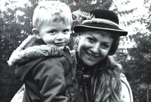 С сыном Збышеком