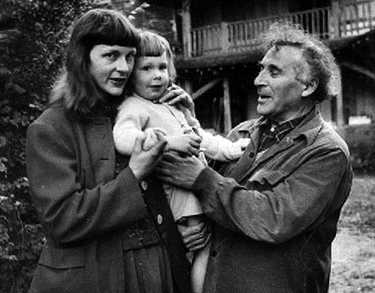 С Вирджинией и сыном