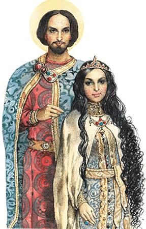 Александр Невский с супругой