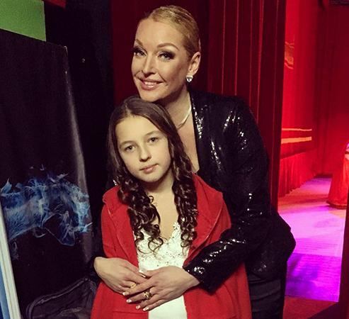 С дочерью Ариандой