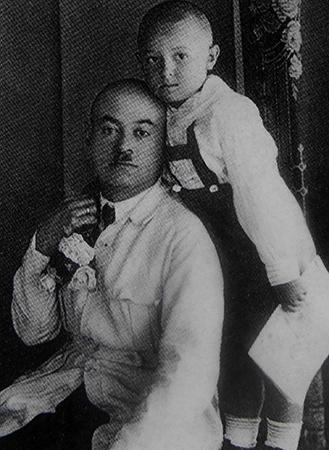 В детстве с отцом