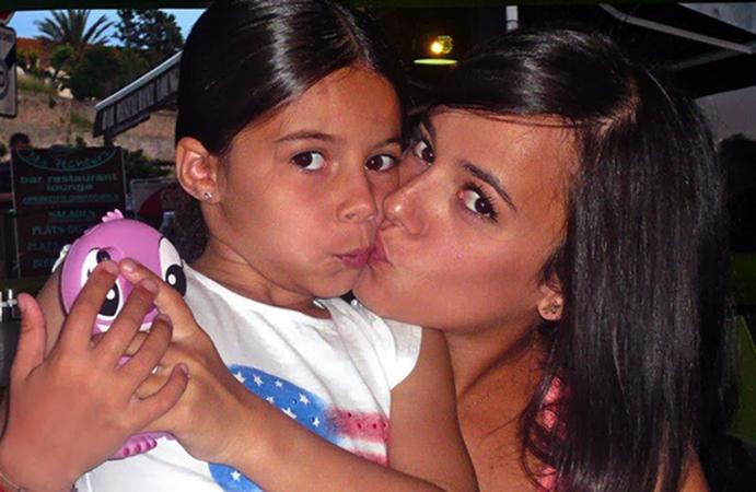 С дочерью Аннили