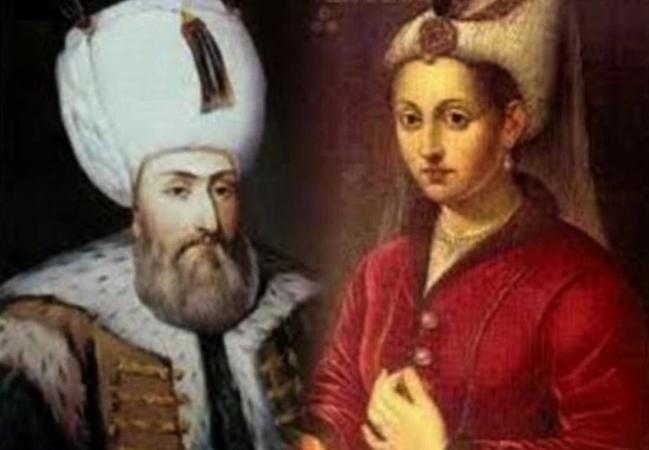 С женой Хюррем-султан