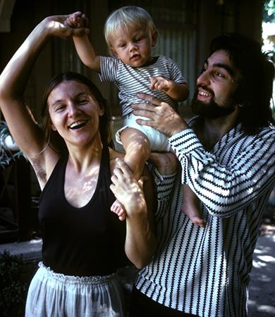 С родителями Ирмелин и Джорджом
