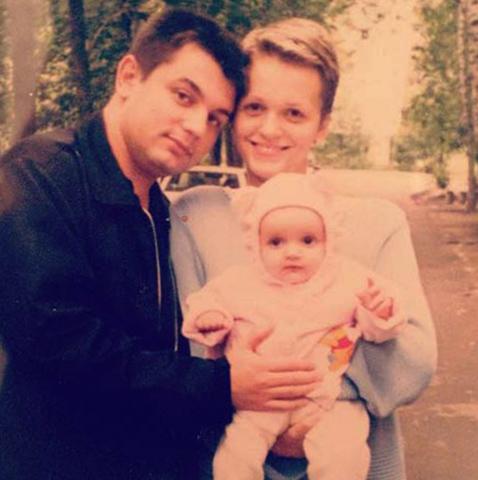 С Константином и дочерью