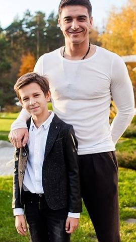 С сыном Марком