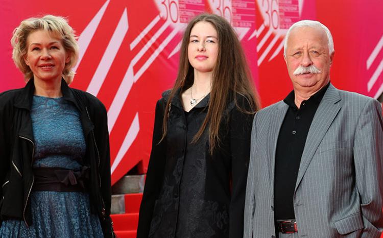 С женой Мариной и дочерью Варварой