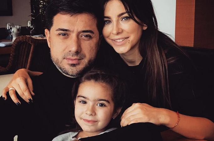 С мужем Муратом и дочерью Софией