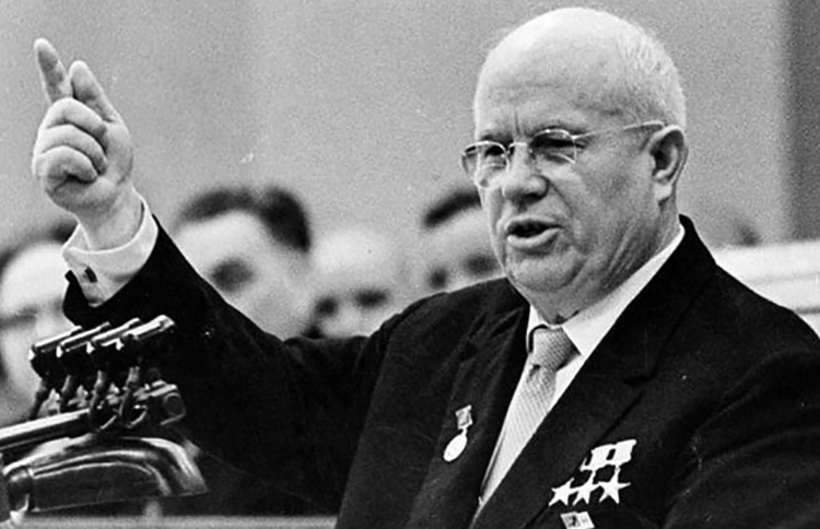 Партийный лидер Никита Хрущев