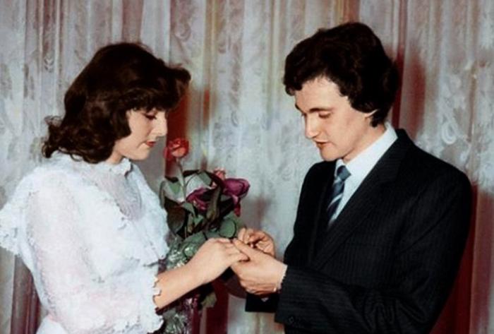 С первой женой Эльвирой