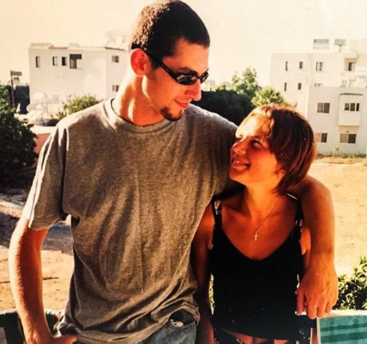С будущей женой в молодости