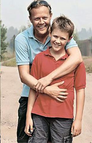 С сыном Алексом