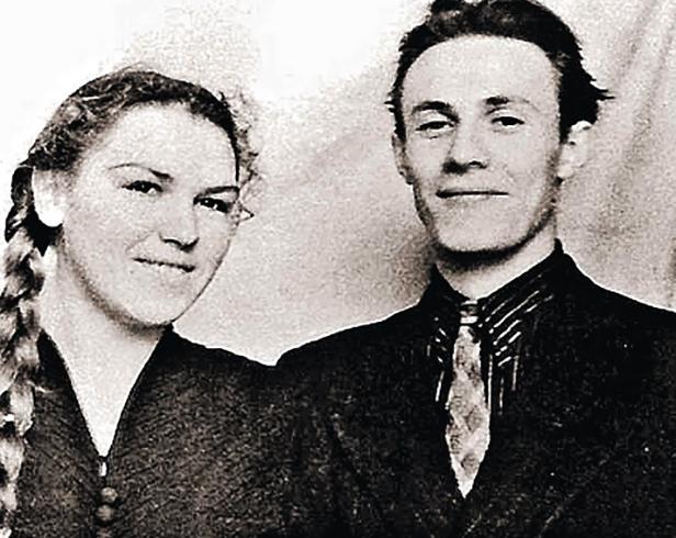 С женой Ольгой в молодости