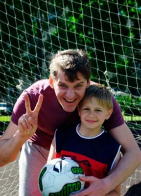 С сыном Богданом