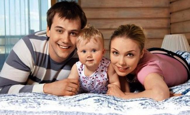С первой женой Татьяной и дочерью Машей