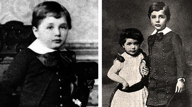В детстве (справа с сестрой)