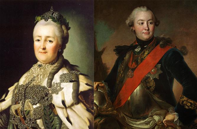 Екатерина II и Григорий Орлов