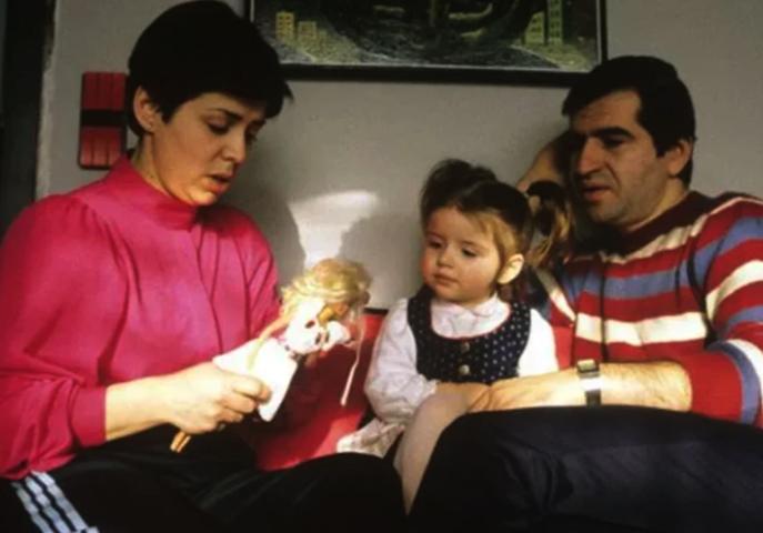 С Леонидом Миньковским и дочерью