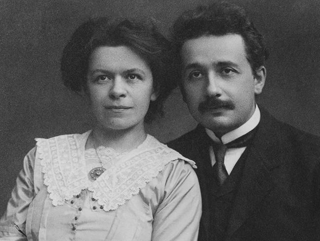 С первой женой Милевой