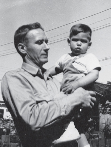 Пол Джобс и маленький Стив, 1957 год
