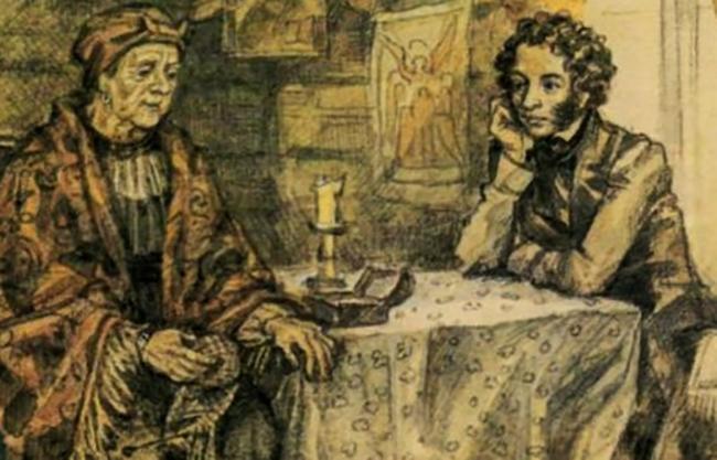 Арина Родионовна и Александр Пушкин