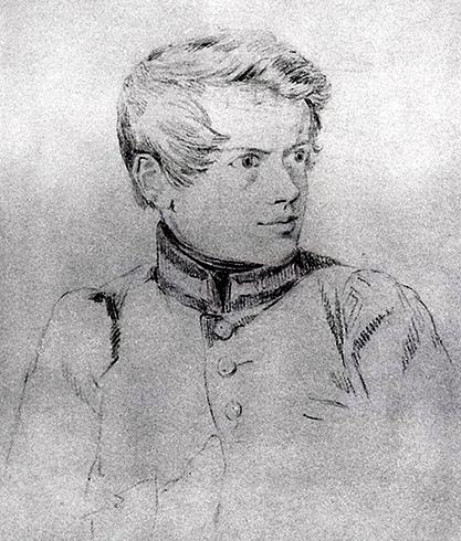 Автопортрет Карла Брюллова (примерно 1813 год)