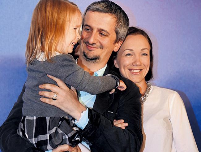 С первой женой Дарьей и дочерью Анной