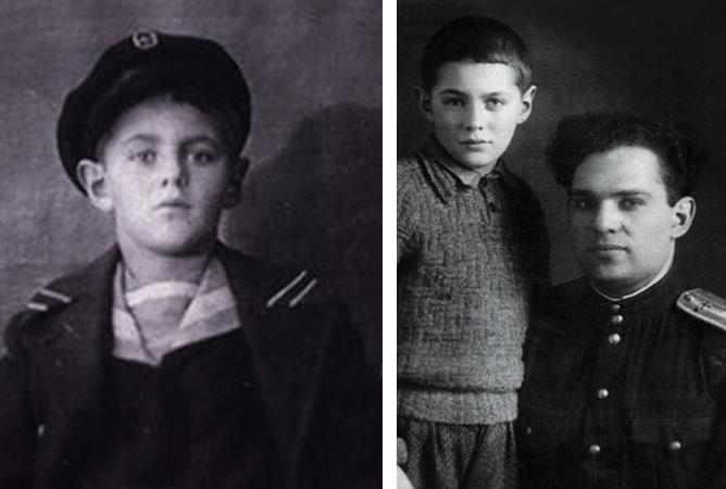 В детстве и с отцом