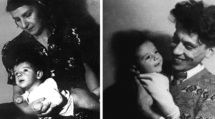 В раннем детстве с мамой и папой