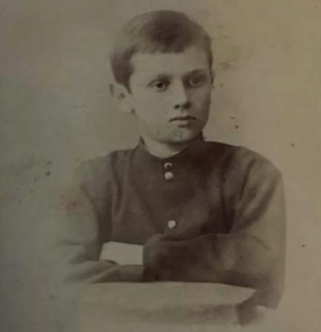 Александр Колчак в возрасте 12 лет