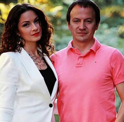 С мужем Евгением