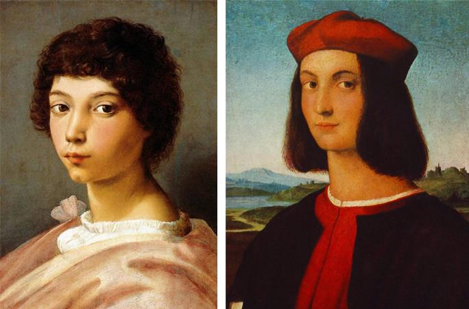 Портреты в юности и молодости