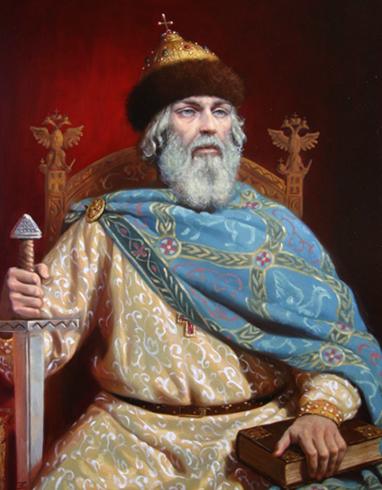 Владимир Мономах на престоле