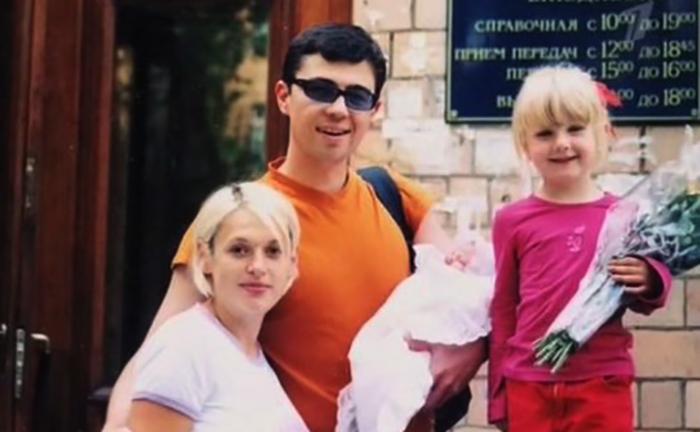 С семьей, незадолго до смерти