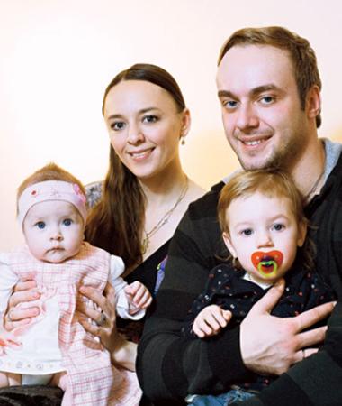 С Аллой Казаковой и дочерьми